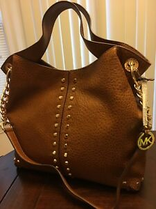 32f41b7f3f48 Image is loading NWT-Michael-Kors-Uptown-Astor-Large-Leather-Studded-