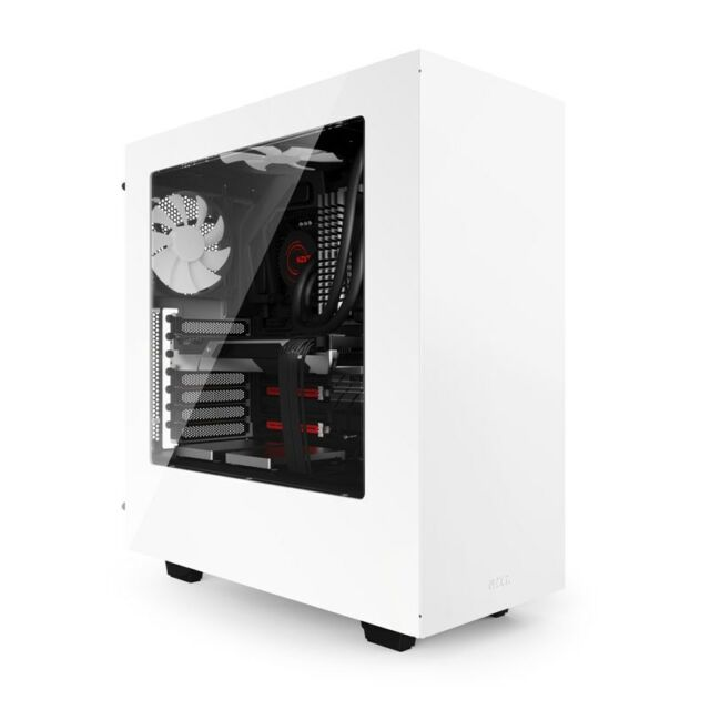 NZXT S340 Mid Tower Gaming Case - White USB 3.0