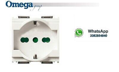 VIMAR 16210.B Presa 2P+T 16A universale bianco 2 moduli serie IDEA