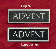 ADVENT PAIR of NEW LOGO BADGE LABEL EMBLEM for Large & Small Advent speaker