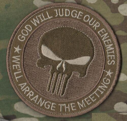 RANGERS USMC FORCE RECON burdock PATCH Arrange Enemies GOD/'S-JUDGEMENT-MEETING