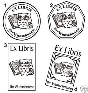 EX LIBRIS - EXLIBRIS STEMPEL mit WUNSCHNAMEN - Neu 02 !