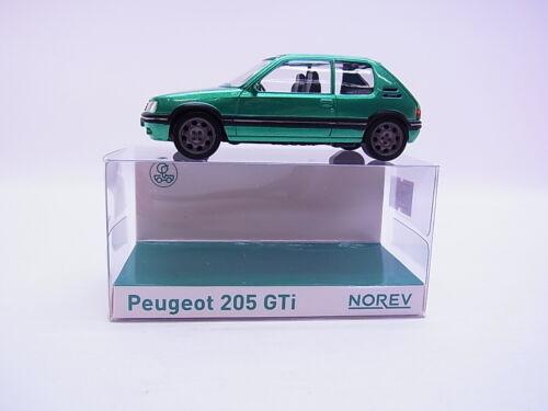 68975NOREV 471717 PEUGEOT 205 GTI vert metallic 1:43 voiture miniature nouveau dans neuf dans sa boîte