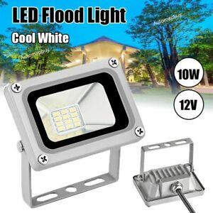 10W-12V-LED-Floodlights-Garden-Yard-Porch-Lamp-Landscape-Spotlights-Cool-White