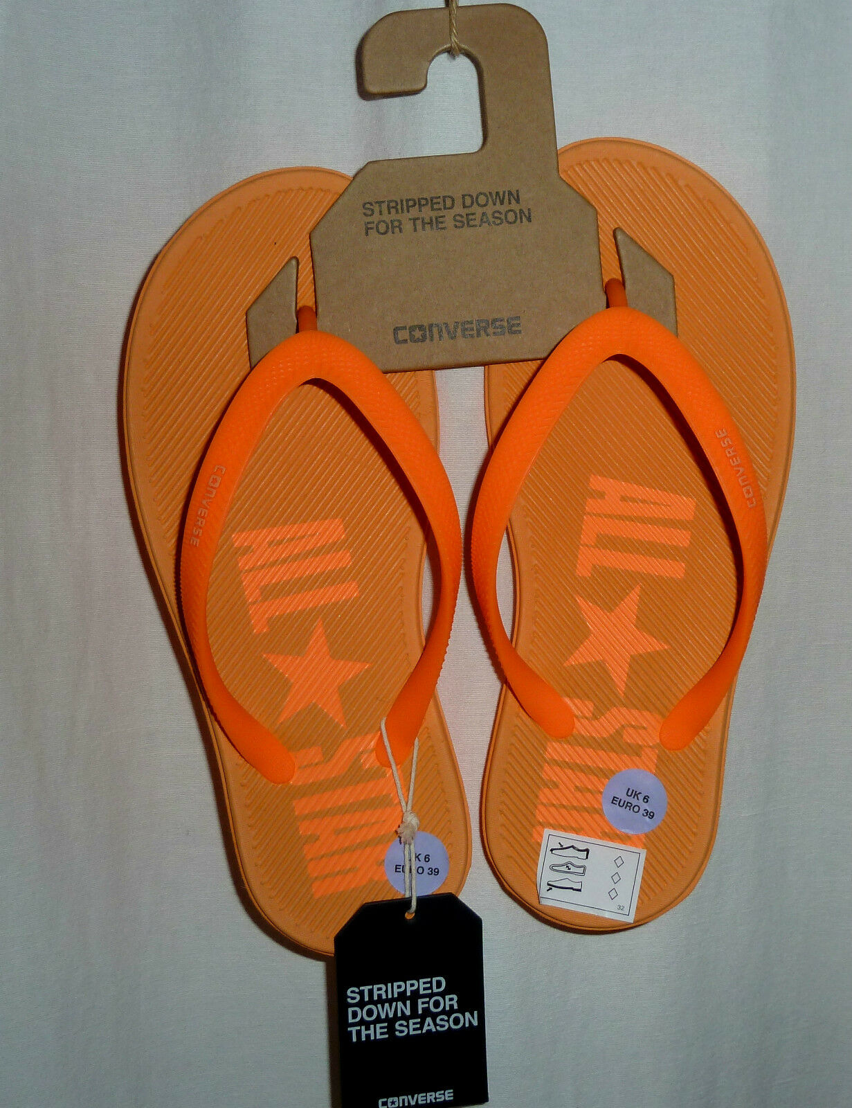 Converse All Star Flip-Flops 39-39,5, Neon-Orange, NP