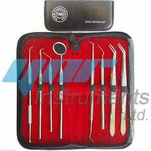 YNR-Dental-Kit-Mirror-Scaler-Set-8pc-Stainless-Professional-Dentist-Leather-Case