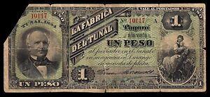 Mexico-Durango-Fabrica-del-Tunal-1-Peso-1884-M717a-PR-DUR-14-Good