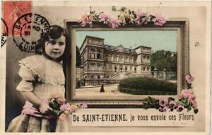 CPA De Saint Etienne. Je vous envoie ces Fleurs. (665053) DPYw3xzE-09085916-566609570