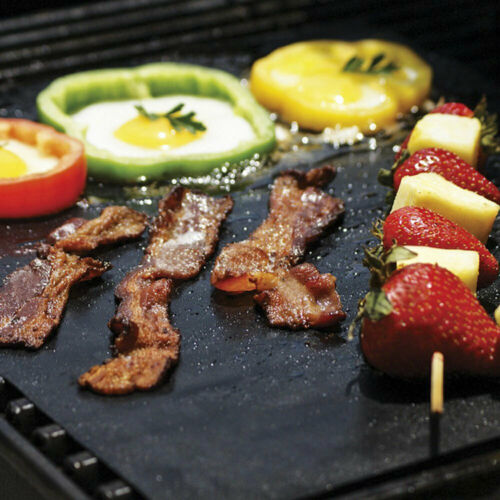 BBQ Grill Mat Non-Stick Cooking Baking Reusable Sheet Barbecue Baking Grill Mesh