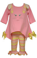 Bonnie Jean Girls Pink Easter Bunny Pageant Dress Outfit Set 4 5 6 6x