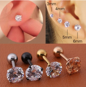 Steel-Barbell-Bling-Simple-Ear-Studs-Chic-Cartilage-Earrings-Clip-Earring-Studs