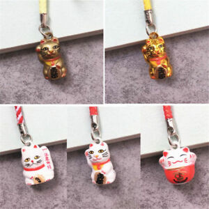 1PC-Fortune-Lucky-Cat-Key-Ring-Chain-Mobile-Phone-Bag-Charm-Toy-Xmas-Gift-Decor