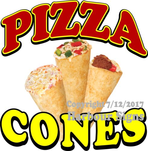 Food Truck Concession Vinyl Sign Sticker Choose Your Size Pizza Cones DECAL