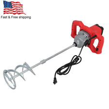 Electric Mortar Mixer Dual High Low Gear 6 Speed Paint Cement Grout 2100w