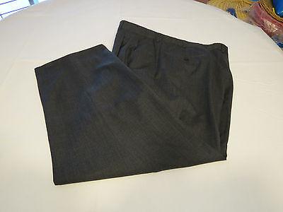 Mens Ermenegildo Zegna Fine Worsted Super 100's wool 38 black pants slacks GUC@