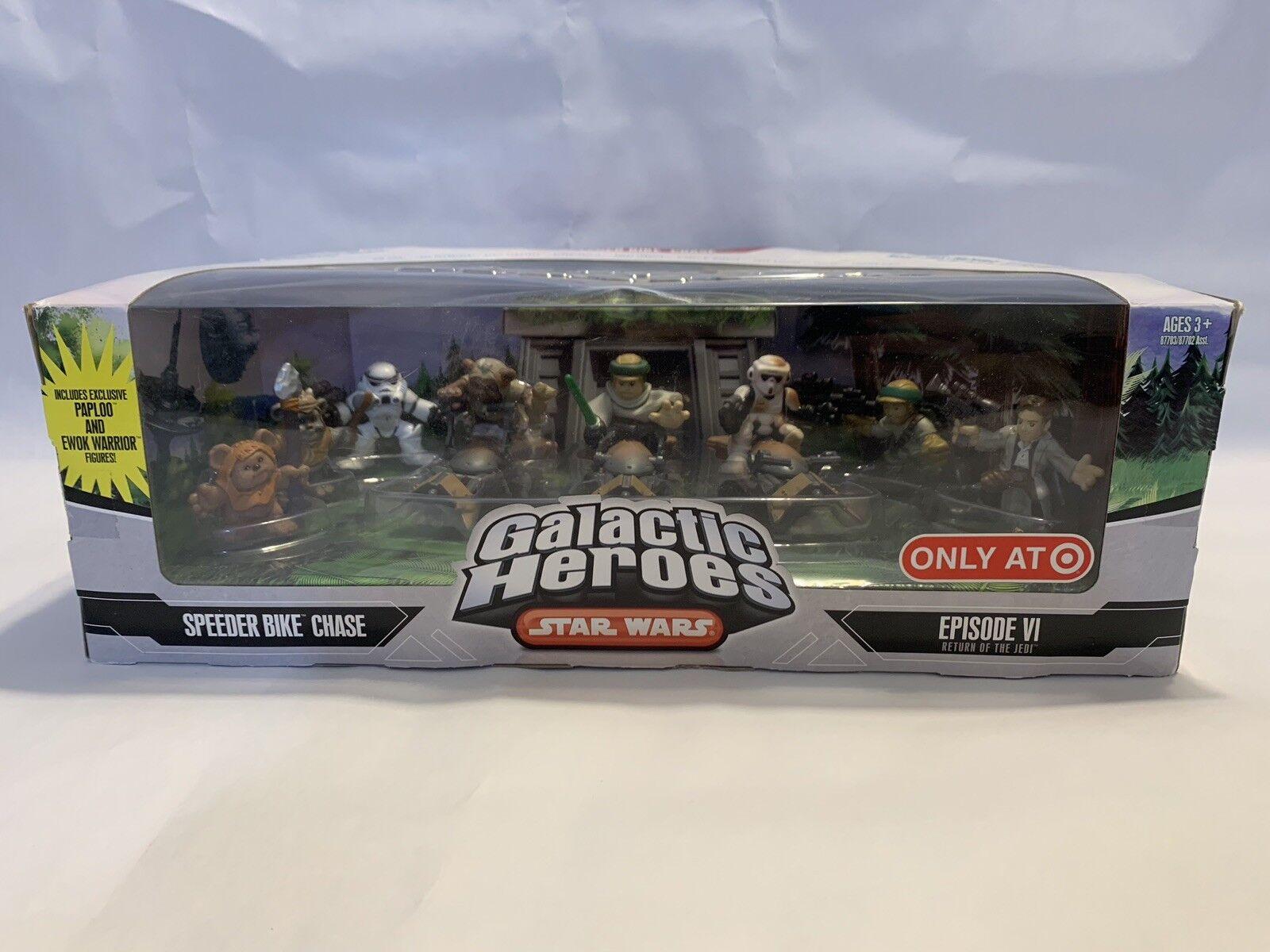 Star Wars Galactic Heroes SPEEDER BIKE CHASE - PAPLOO Ewok Ewok Ewok Warrior SCOUT  -NEW 7b5b30