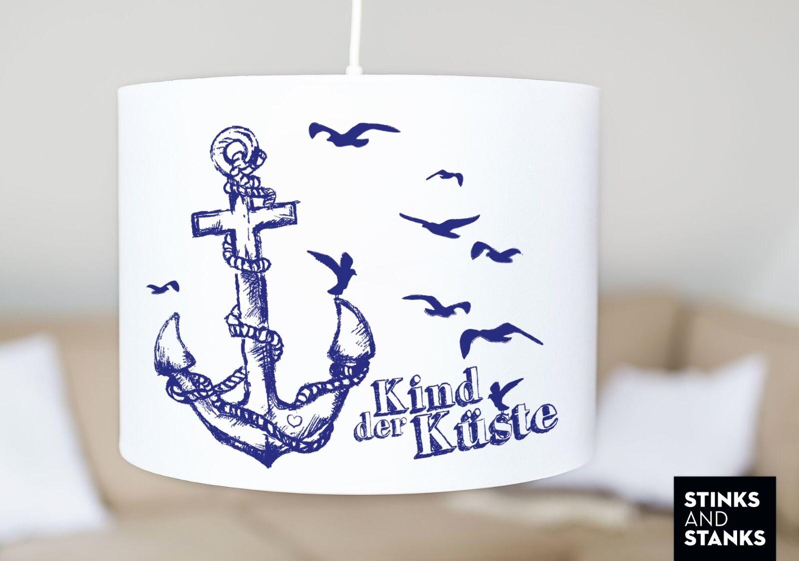 Plafoniera lampada a sospensione paralume Ancoraggio Maritim figlio della costa