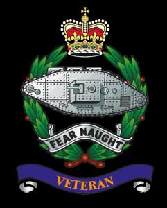 "TANK REGIMENT VETERANS x 2 BRITISH ARMED FORCED MILITARY REGIMENT 5/"" approx"