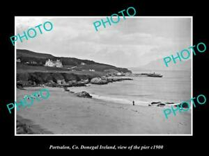 OLD-LARGE-HISTORIC-PHOTO-OF-PORTSALON-DONEGAL-IRELAND-VIEW-OF-THE-PIER-c1900