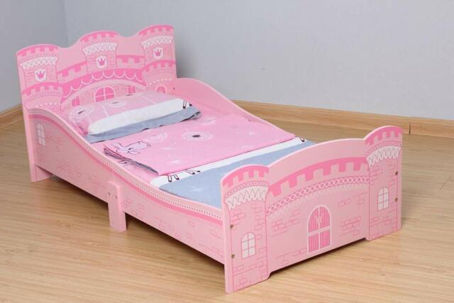 Toddler Kids Girls Bed Pink Princess Junior Pretty With Luxury Foam Mattress Uk