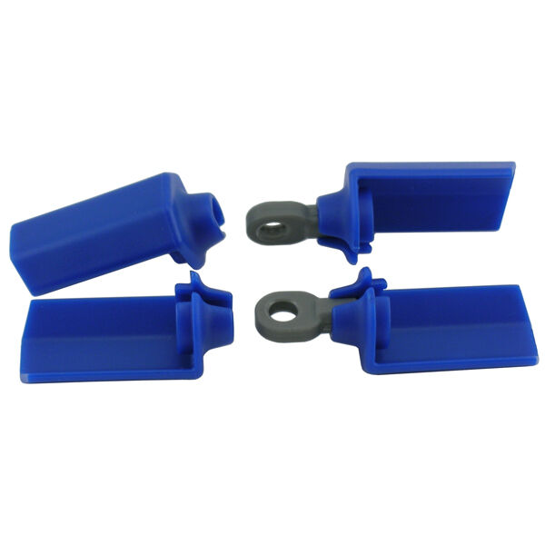 RPM Associated SC10 Shock Shaft Guards (Blue) RPM80575