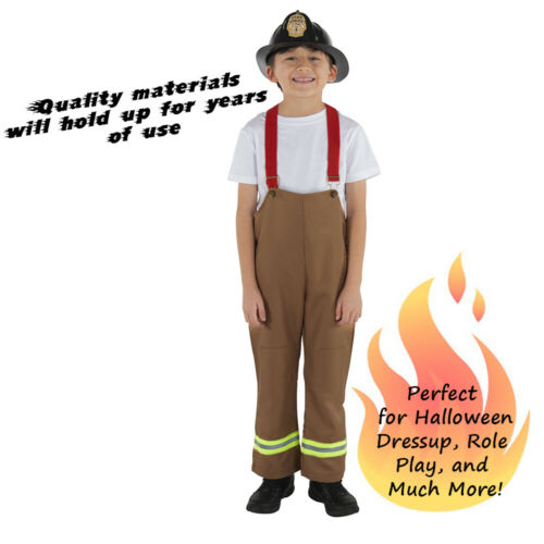 Role Play Firefighter Costume Dress Up America Fireman Costume for Kids