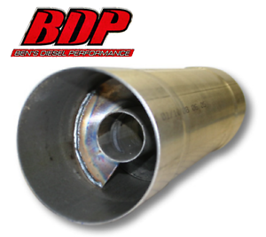 """FTE Resonator muffler 4x17.5/"""" for 4/"""" exhaust piping RM4417A"""