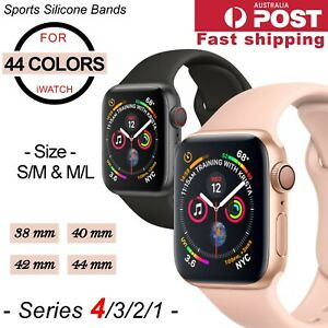 Sports Silicone Bracelet Wrist Band For Apple Watch Series 5 4 3 2 38 40 42 44mm Ebay
