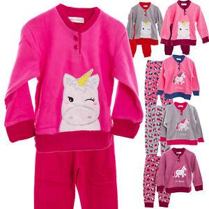 codice promozionale 0cfbe 774ec Dettagli su Pigiama bimba bambina maglia UNICORNO pile caldo pantaloni  inverno nuovo L013