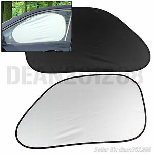 2 pcs uv windshield car sun shade auto block rear window visor sunshade 64 x 38 ebay. Black Bedroom Furniture Sets. Home Design Ideas