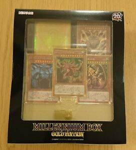 YU-GI-OH-OCG-DUEL-MONSTERS-20th-MILLENNIUM-BOX-GOLD-EDITION-Nuovo-dal-Giappone