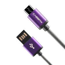 Ladekabel für Samsung A3 A5 J5 S5 Neo S6 3m Lila Nokia PS4 XBOX Huawei Micro USB
