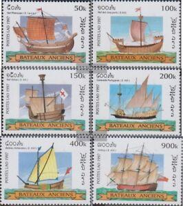 Laos-1600-1605-kompl-Ausg-postfrisch-1997-Alte-Segelschiffe