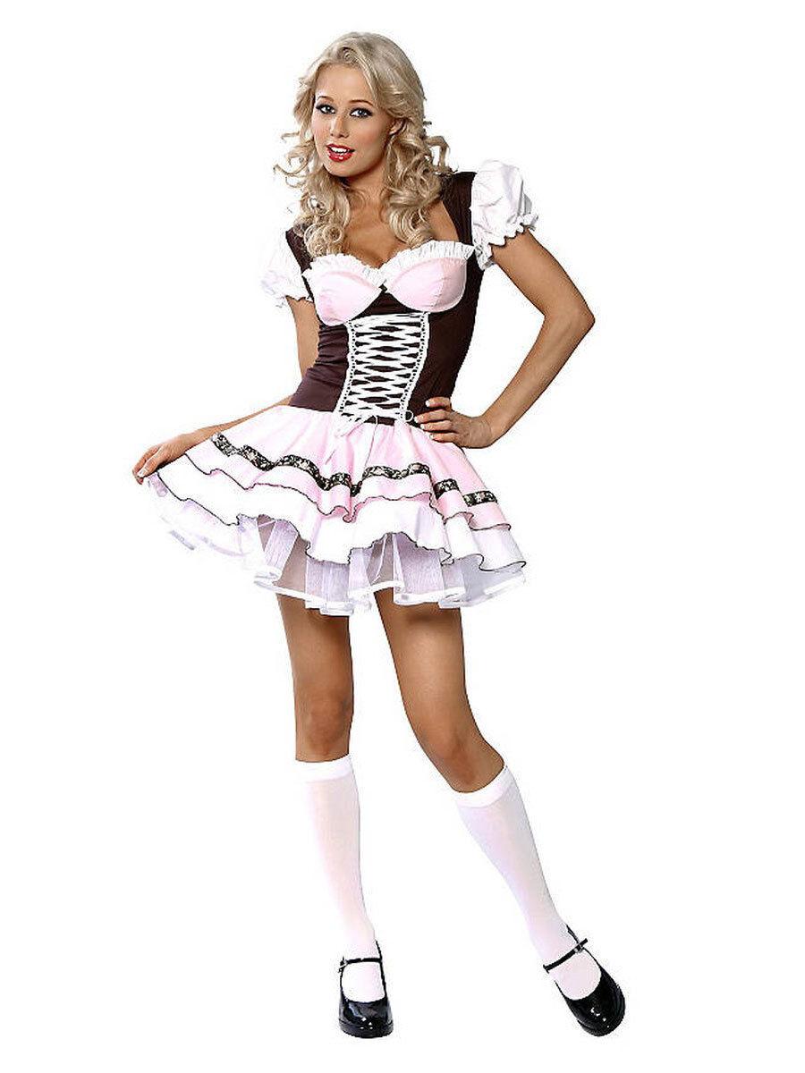 Sexy Milchmädchen Milchmädchen Milchmädchen Kostüm Karneval Tracht | Auktion  | New Style  | Haltbarer Service  e488db