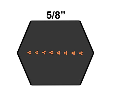 D/&D PowerDrive BB122 Hexagonal V Belt  21//32 x 126.6in  Vbelt