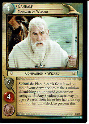 LORD OF THE RINGS TRADING CARD GAME RETURN OF THE KING RARE CARD 7R37 GANDALF