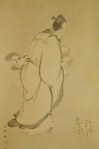 Bon CœUr Japonais Suspension Art Peinture Japon Cheval Hermit Gourde Ancien D'encre Dessins Attrayants;