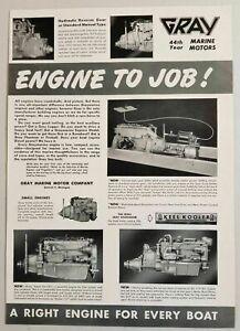1950 Print Ad Gray Marine Motors Boat Engines Gears Detroit Mi Ebay