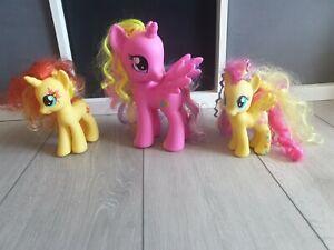 "My Little pony MLP Pink Unicorn Pegasus large 8"" Princess Cadence bundle x 3"