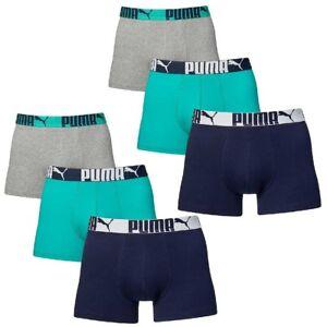 6-en-Paquete-Puma-Boxer-shorts-Columbia-Green-Size-XL-Ropa-Interior