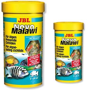 JBL-Novo-Malawi-Cichlid-Flakes-250ml-1L-Fish-Food-NovoMalawi-Original-Tubs