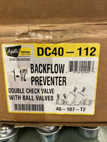 112  Leaded APOLLO BACKFLOW PREVENTER 11//2 DC
