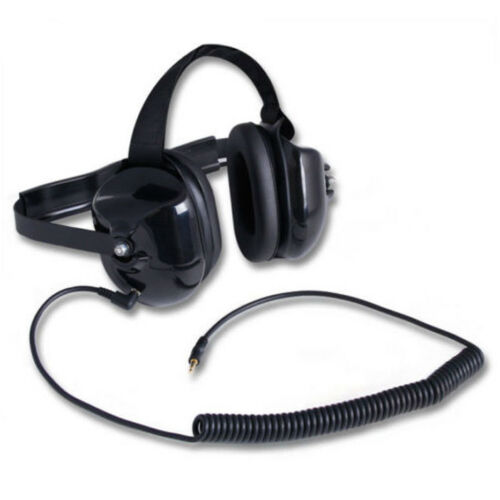 Rugged Radios H40-BLK Behind the Head Listen Only Headset with 3.5mm Input Jack