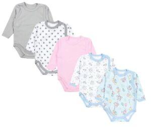 TupTam Baby Unisex Langarm Wickelbody Print//Uni 5er Pack