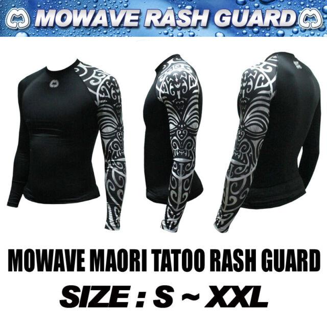 Mowave men athletic maoritatoo rashguard baselayers MMA swimwear surfingshirts