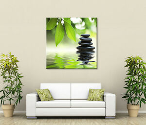 Image Is Loading JAPANESE ZEN CALMING LARGE CANVAS WALL ART GREEN