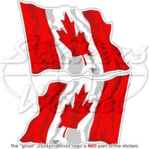 CANADIAN-Flying-Flag-CANADA-Bumper-Stickers-75mm-3-034-x2