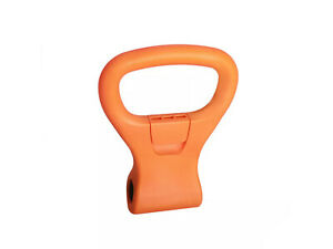 【us】Dumbbell Kettlebell Adapter Handle Grip Travel Workout Equipment - Orange