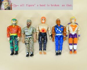 lot of 5 The Corps! Special Forces lanard action figure hand is broken #H1