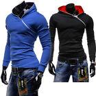 Mens Slim Fit Pullover Hooded Jacket Sweatshirt Hoodie Jumper Coat Size S M L XL